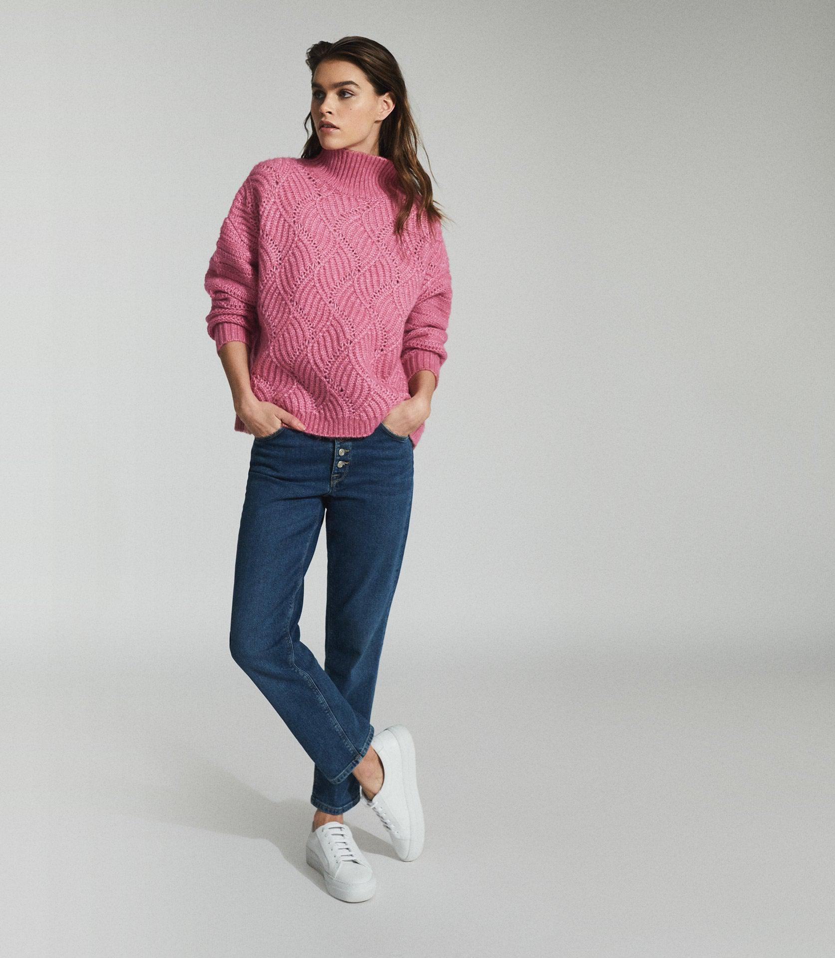 OLA - OVERSIZED CABLE KNIT JUMPER