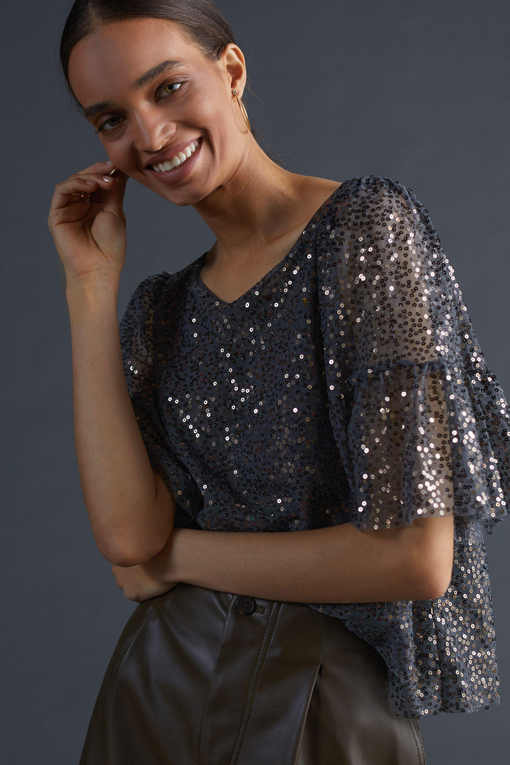Maeve Sequined Blouse