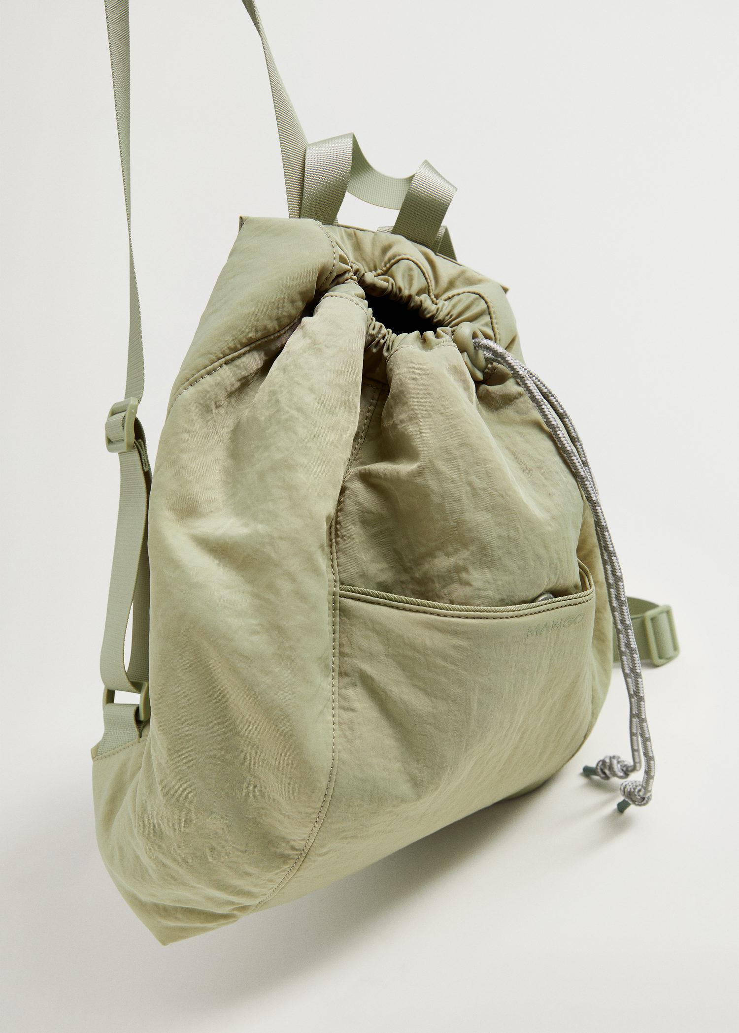 Lace-up sack backpack