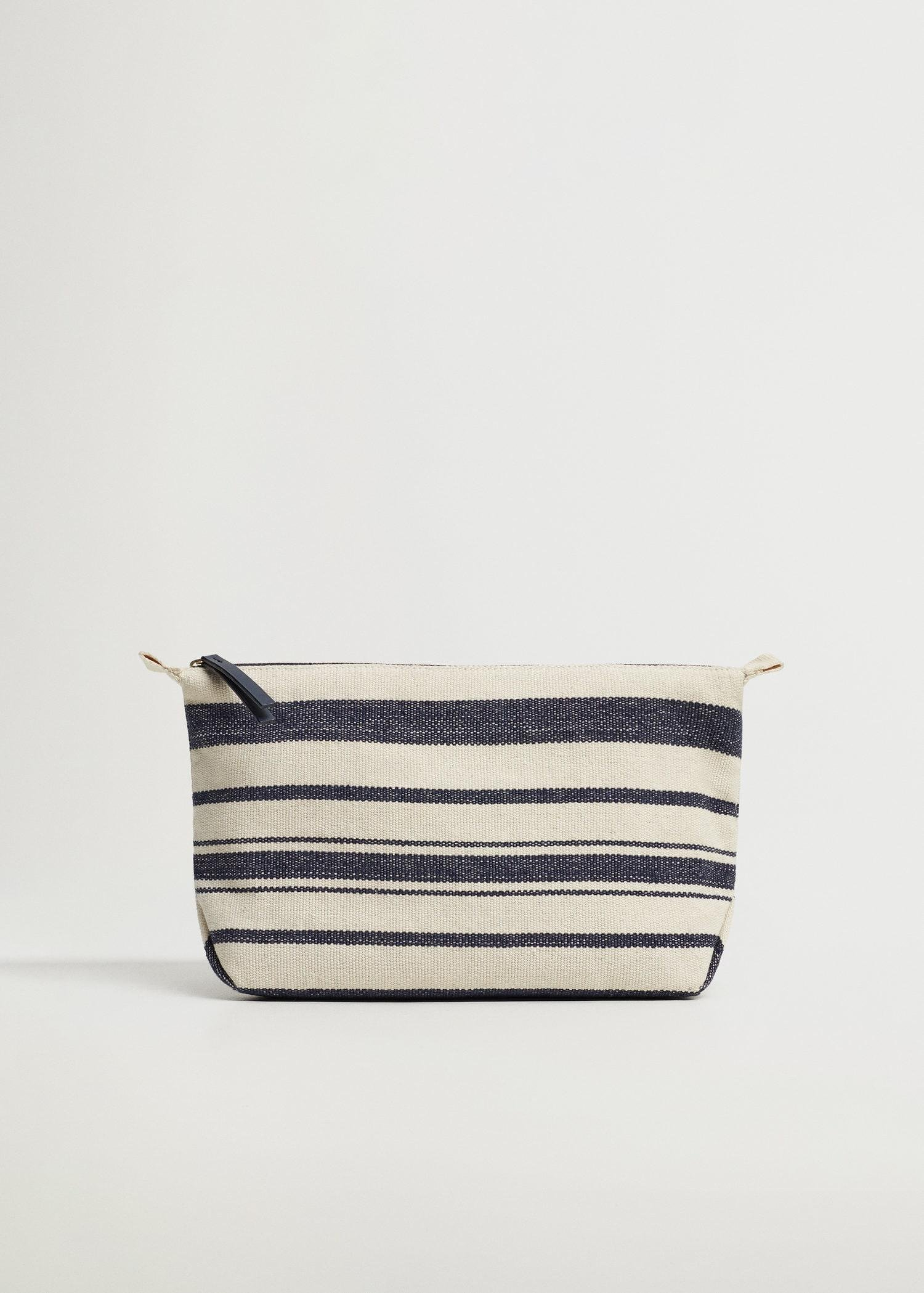 Cotton fabric cosmetic bag